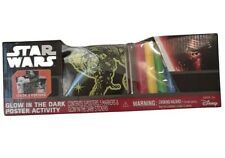 Star Wars Glow In The Dark Activity Coloring Set of 3 Posters w/Markers Stickers