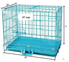 "ROYAL PET Dog Cage Light Blue Imported ""36"" Inch For Medium Dog Breeds and Birds"