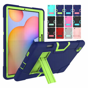 For Samsung Tab S6 Lite 10.4 Tablet Cover Rubber Military Tough Kickstand Rugged