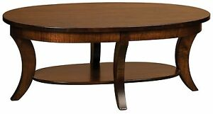 Amish Occasional Accent Table Set Oval Round Coffee End Sofa Solid Wood