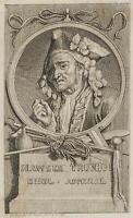 CHODOWIECKI (1726-1801). Portrait von Hawser Trunion; Druckgraphik 1
