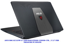 "Asus ROG GL752VW Gaming Laptop i7 6700HQ 17.3"" FHD 16GB RAM 120GB SSD 1TB GTX960"