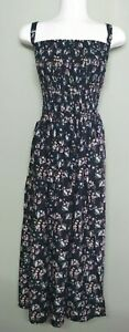 1K67238  LADIES MAXI SHIRRED SUMMER DRESS plus size 32  34  36  38 NEW WITH TAGS