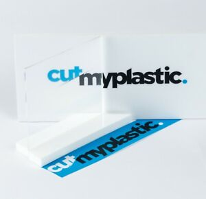 Clear Acrylic Coasters, Laser Cut Plastic, Pack of 10 Squares, 10cm x 10cm