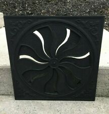 Heat grate vent register flower pinwheel louver old antique rustic casat iron