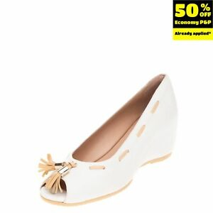 RRP €245 PAKERSON Leather Court Shoes Size 36 UK 3 US 6 Wedge Tassels Two Tone