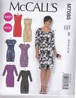 McCALL'S SEWING PATTERN MISSES' DRESSES SEMI FITTED DRESS SIZES 6 - 22 M7085