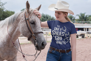 The Only Shoes A Girl Wants Ladies Women's Girl's Horse Equestrian Gift T-Shirt