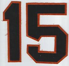 Rare San Francisco Giants Circa 1960's Uniform Numbers