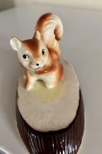 Vintage squirrel figurine Small 5cm