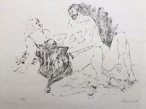 Fritz Cremer Liebespaar Lithografie nummeriert 20/25 datiert 1972 signiert