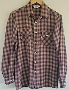 Vintage 1979 Levi's Wildfire Men's Shirt Medium Multicolor Plaid Button Front