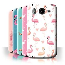 STUFF4 Back Case/Cover/Skin for HTC Desire HD/G10/Cute Flamingo Cartoon