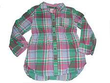 H & M tolle Bluse Gr. 104 grün-rosa-blau kariert !!