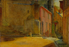 Aquarelle illiers Combray Braunwald 1943 Architecture