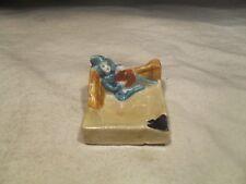 Occupied Japan ~ Leprechaun Figure Ashtray ~ Ceramic