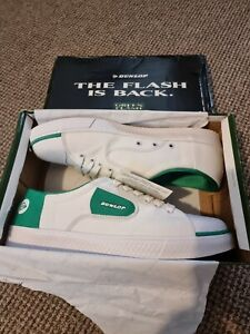 Dunlop Green Flash Canvas Trainers Brand New in box (Never used) Size UK 12 tag