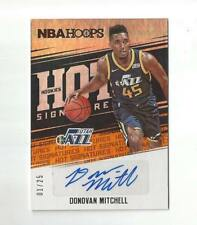 2017-18 NBA HOOPS DONOVAN MITCHELL 1/25 ROOKIE HOT SIGNATURES AUTO RC AUTOGRAPH