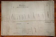 Original 1873 Ink On Linen Signed Flushing Queens New York Map 17X26