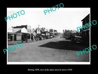 OLD POSTCARD SIZE PHOTO OF MOLONG NEW SOUTH WALES MAIN STREET & SHOPS c1930