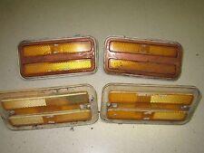 Original GM 1970-81 Firebird TA Front Side Marker Lights & Bezels Lot of 4