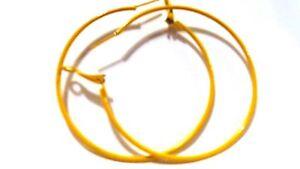 MEDIUM HOOP EARRINGS 2 INCH HOOP SIMPLE THIN HOOP EARRINGS ASSORTED COLORS