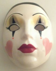 About Face Vintage Collectible Glass Mask A Division Of Clay Art 1990's