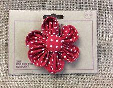 Red Polka Dot Detatchable Flower, Dog Collar Accessory
