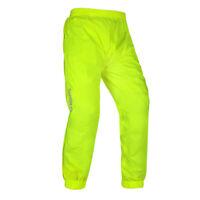 Oxford Rainseal Waterproof Motorcycle Motorbike Over Pants Trousers - Fluo
