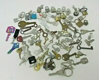 Lot of 102 KEYS and 18 Small LOCKS Jaguar Skeleton Vintage to Now Hotel