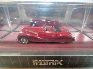 Matrix Delahaye 135MS Grand Sports Roadster Figoni Falaschi Open 1939 Red