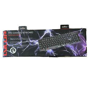 Vivitar LVLup LU734 Pro Gaming Keyboard w/Multi Color LED Keys Factory Sealed