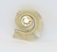 Modern abstract star burst western germany gold tone scarf clip