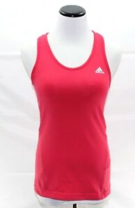 Adidas Open Racer Back Tank Top Womens Small Pink Running Yoga Fitness