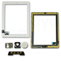 Glass Touch Screen Digitizer Home Button Flex For iPad 2 A1395 A1396 A1397 White