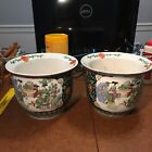 A pair of Chinese Porcelain Families Rose Flower Planter