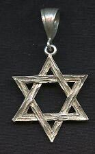 Hebrew Star of David Pendant Charm Vintage Sterling 925 Silver 9 gram AI325