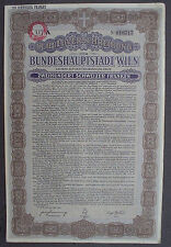Capitale fédérale Vienne 200 Francs Suisses Gold Bond 1931 Uncancelled + coupons