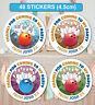 48 Birthday Party Bag Stickers Sweet cone Labels Bowling Personalised