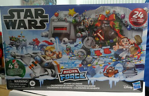 Star Wars Micro Force Mini Figure Childrens Advent Calendar - Christmas