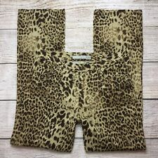Jones New York Leopard Jeans Size 8 Womens Boot Cut Animal Print Twill Cotton