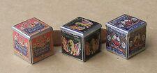 1:12 SCALA 3 VUOTA Casa delle Bambole in Miniatura Stile Vittoriano Biscotto Barattoli Cucina Cibo