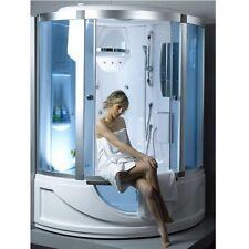 Cabina con vasca Idromassaggio 135x135 bagno turco sauna box doccia multifunz| 6