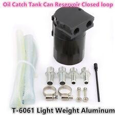 Car Autos Oil Catch Tank Can Reservoir Closed loop Black Universal Aluminum 11mm