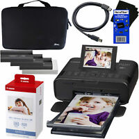Canon Selphy CP1300 Wireless Photo Printer +Ink-Paper +Hard Case + USB Cable BLK