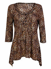 Blouse Cotton 3/4 Sleeve Scoop Neck Tops & Shirts for Women