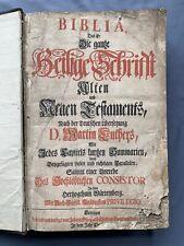 Ancienne Grande Bible de LUTHER Tübingen 1724 - Biblia In Folio 25/38 cm 3,3 Kg