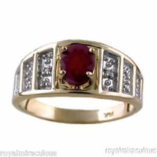 Ruby & Diamond Ring  (May Birthstone) 14K Yellow Gold