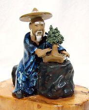 Bonsai Gärtner 8 Figur sehr groß Porzellan Deko Koi
