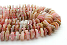 Natural Pink Opal Chips Nuggets Rough Cut Irregular Shape Loose Gemstone Beads